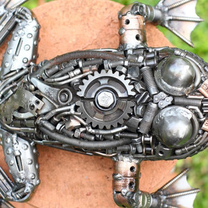 Frog scrap metal artwork