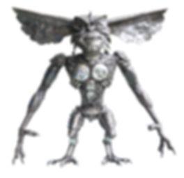 monster gremlin movie metal art