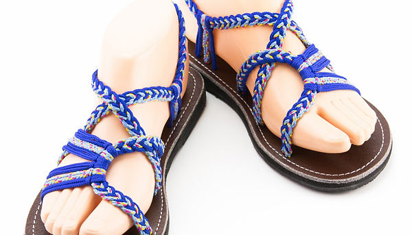 sandals for women lolita design blue color by nittynice