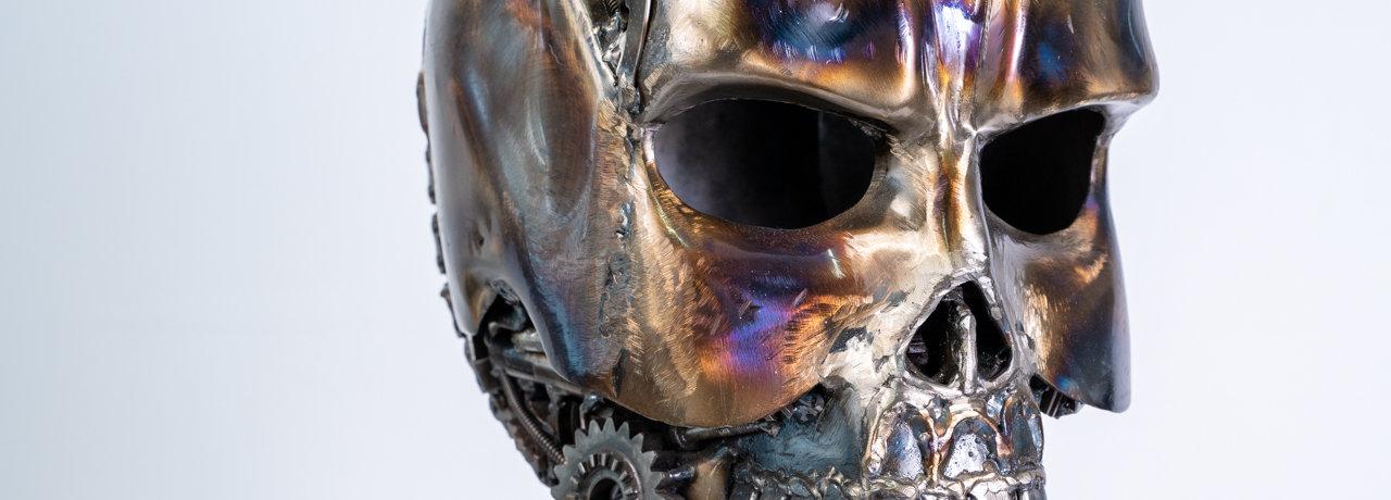 skull metal art sculpture artwork header