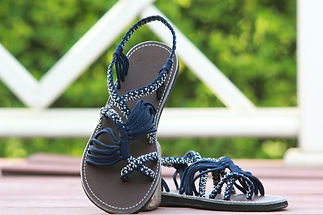 sandals for women zitra design blue white color by nittynice 1