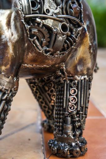elephant metal art mari9art sculpture-7.