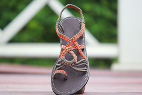 sandals for women bella style orange green color by nittynice
