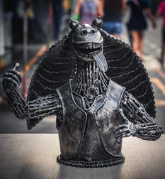Watto scrap metal sculpture