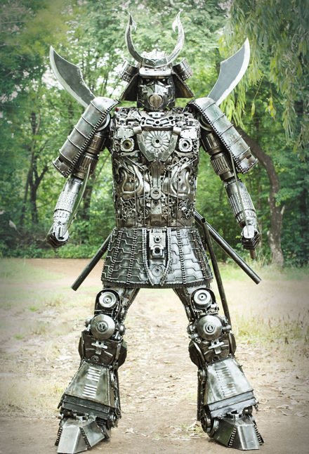Samurai metal art full body