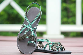 sandals for women bella style blue white color by nittynice