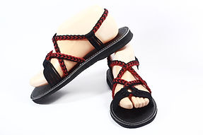 sandals for women emma design black red color by nittynice