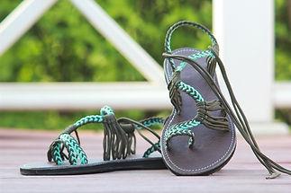 sandals for women nancy design light blue green color by nittynice