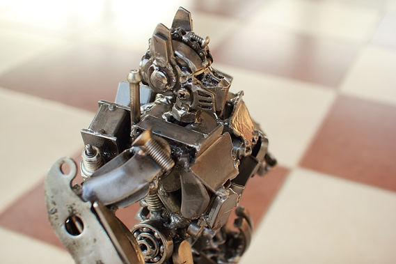 30cm optimus prime scrap metal sculpture zoom head