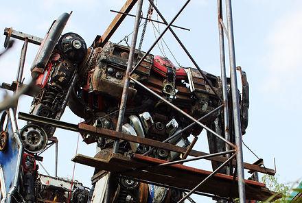 Making large scale optimus sculpture