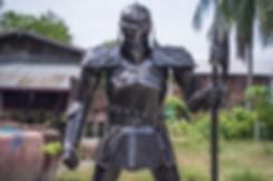 knight scrap metal artwork body shot