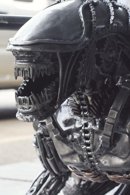 Alien movie inspired metal art