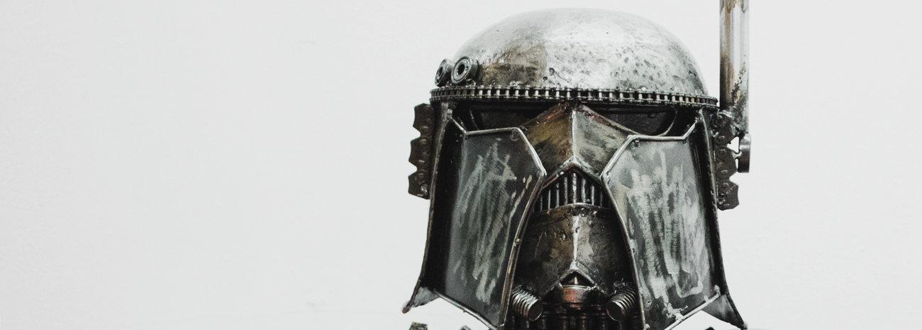strom trooper starwars scrap metal head