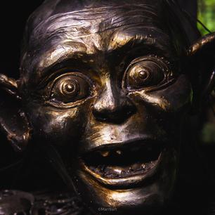 Gollum scrap metal art sculpture