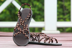 sandals for women ava style brown color by nittynice
