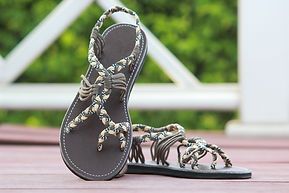 sandals for women abby style grey color by nittynice