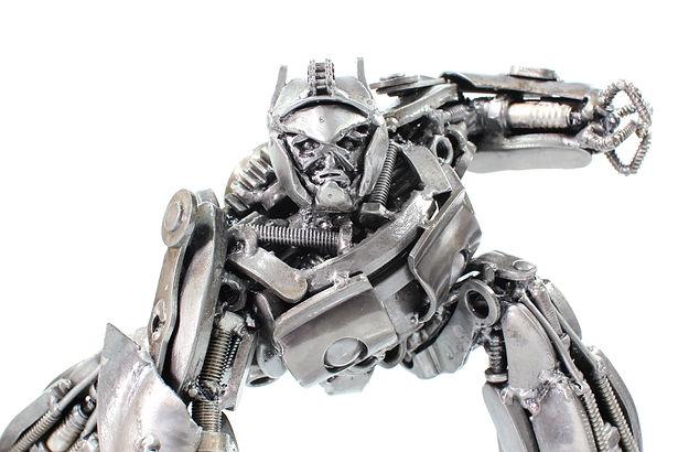 zoom optimus prime scrap metal sculpture zoom body