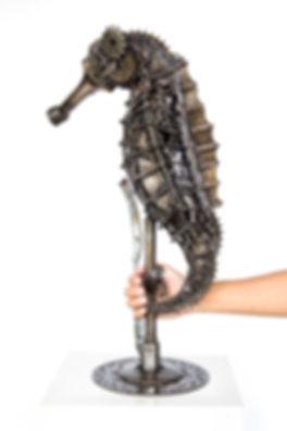 seahorse metal art sculpue