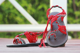 sandals for women nancy design red grey color by nittynice