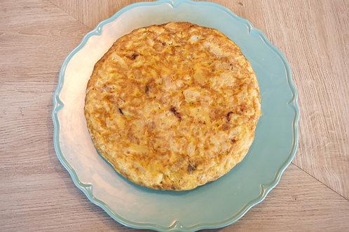 Tortilla de patata con cebolla