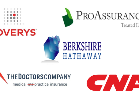 Top 15 medical malpractice insurance carriers in 2018, ranked by NAIC (USA)