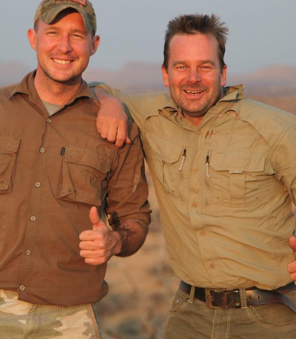 Sean Holloway Phillip Fourie PH Professional hunter