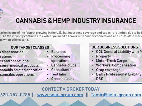 Cannabis, CBD and Hemp industry insurance