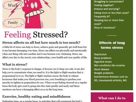 Stressed out or stress free?