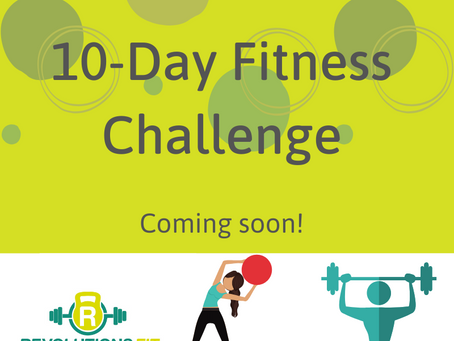 10-day Fitness Challenge coming in January 2020.