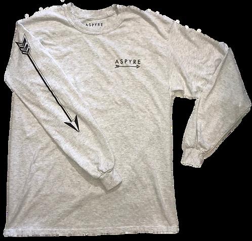 Grey Long Sleeve Logo Tee