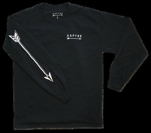 Black Long Sleeve Logo Tee