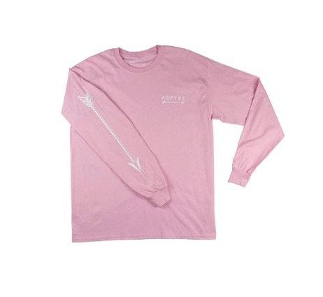 Pink Long Sleeve Logo Tee