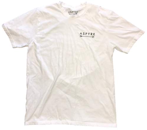 White Short Sleeve Logo Tee