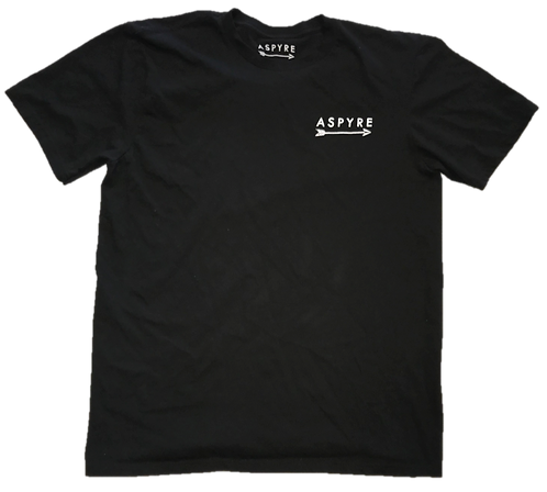 Black Short Sleeve Logo Tee