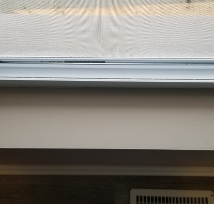 WINDOW RAIL AFTER CLEANING