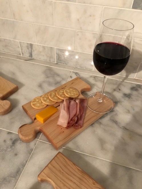 Puzzle Piece Serving Board / Wine Glass Holder