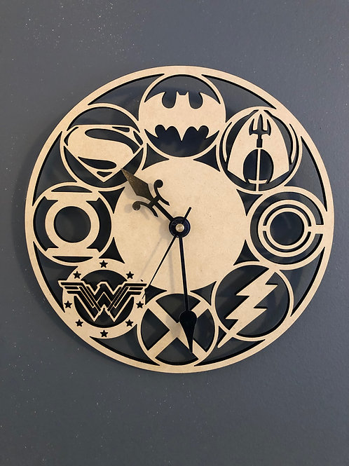 Justice League Inspired Clock