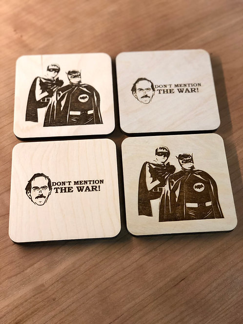 Set of Four Character Coasters