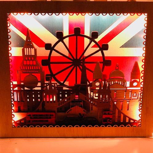 London City Lighted Wall Decor