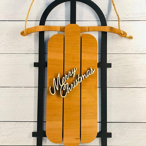 Christmas Sled Door Hanger