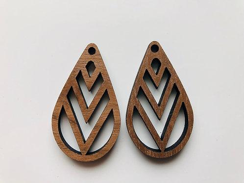 Walnut Laser Cut Earrings