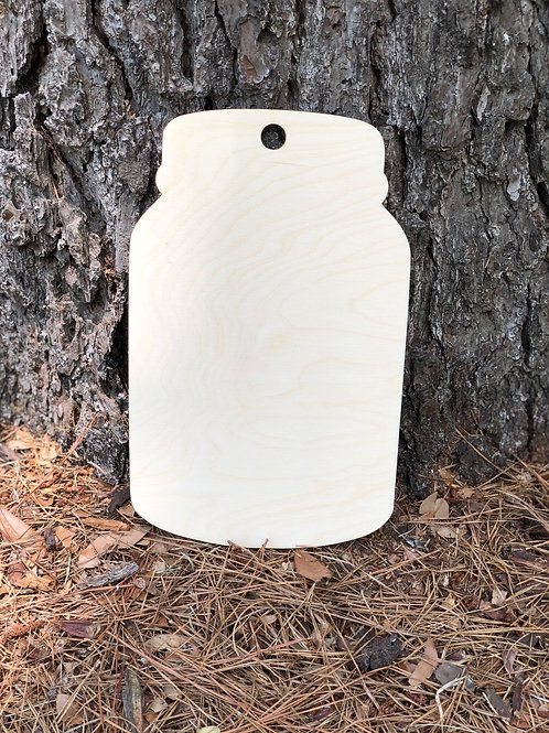 Mason Jar Wooden Painting Blank
