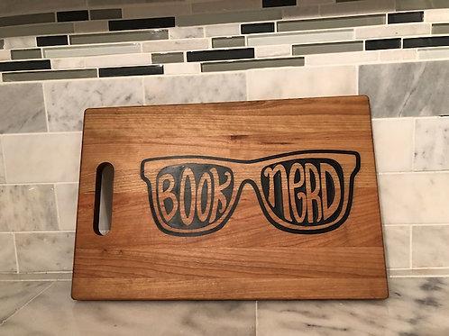 Book Nerd Cutting Board