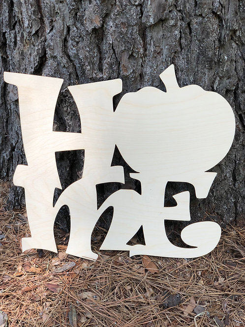 HOME Wooden Painting Blank