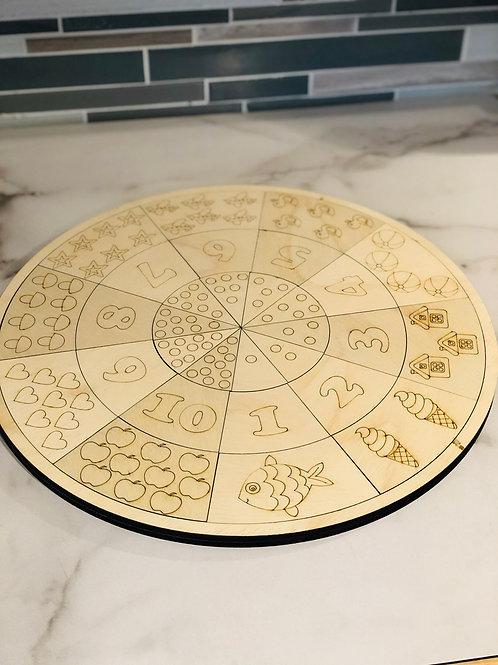 Simple 1-10 Manipulative Puzzle