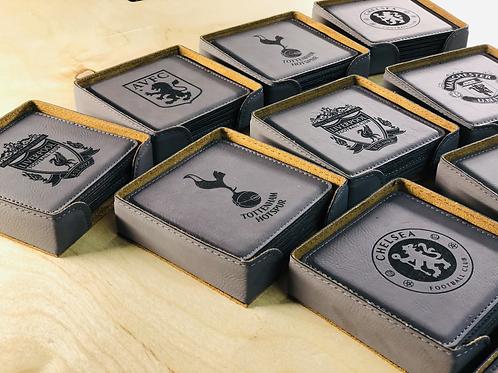 Fan Inspired Faux Leather Coasters