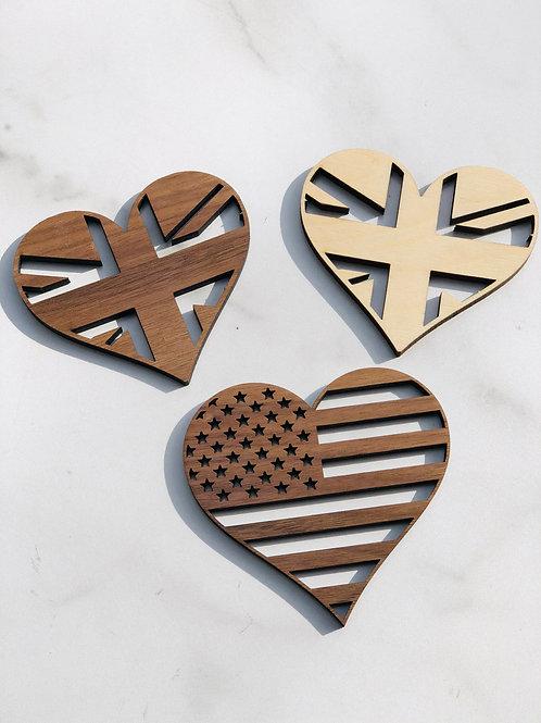 Set of Four Patriotic Coasters
