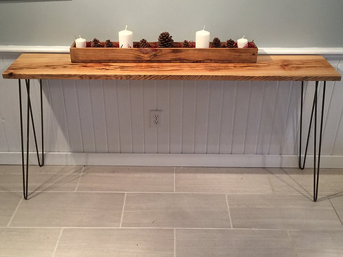 Pecky Cypress Console / Sofa Table