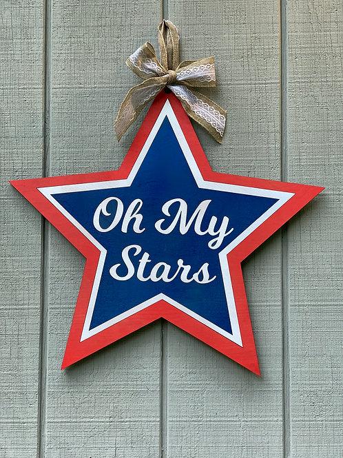 Oh My Stars door hanger