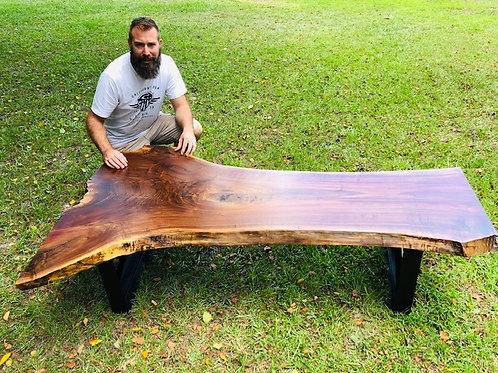 "Walnut Live Edge Coffee Table / Bench (74"" Long)"